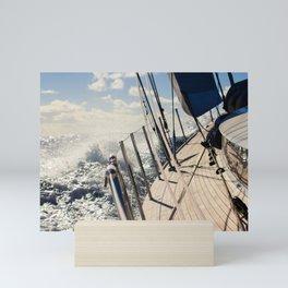 Onboard during sailing across the Atlantic- sailing photography- nautical photograph  Mini Art Print