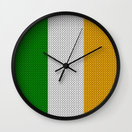 Flag of Ireland - knitted Wall Clock