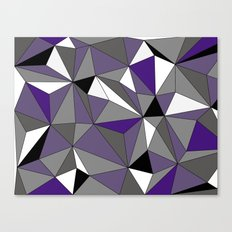 Geo - purple, gray, black and white Canvas Print
