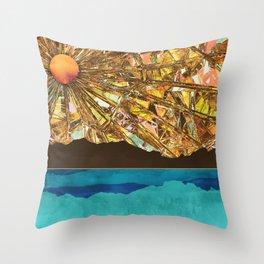 Fractured Sky Throw Pillow