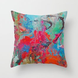 Heaven Rejoices Multi Colored Abstract Luke 15:7 Throw Pillow