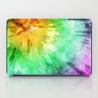 tie dye iPad Cases featuring Colorful Tie Dye Design by Phil Perkins