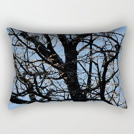 icy tree Rectangular Pillow