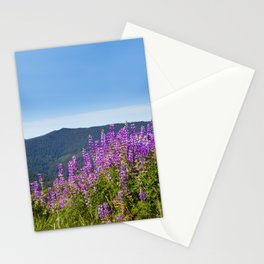 The Lupines in the Hills Stationery Cards