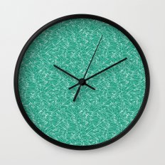 Schoolyard Aviation Green Wall Clock