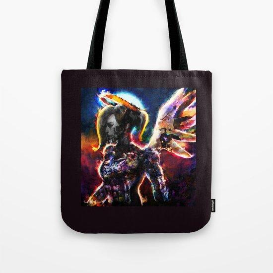 metal angel Tote Bag