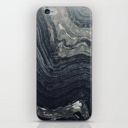 Dark Gray Marble Pattern iPhone Skin