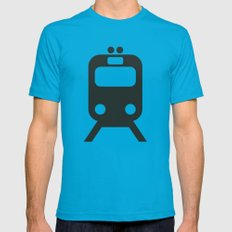 Train Mens Fitted Tee Teal LARGE