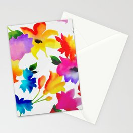 Dancing Floral Stationery Cards