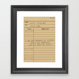 Little Women - Library Series Framed Art Print