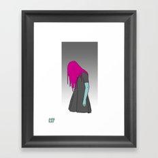 Black Grunge Framed Art Print