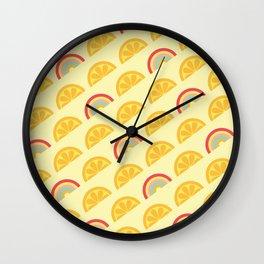 Lemon Rainbow Dream Wall Clock