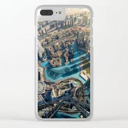 On top of the world, Burj Khalifa, Dubai, UAE Clear iPhone Case
