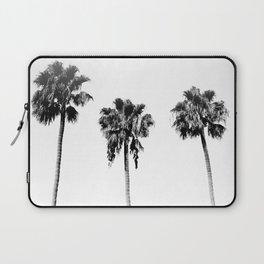 Black + White Palm Trees Laptop Sleeve