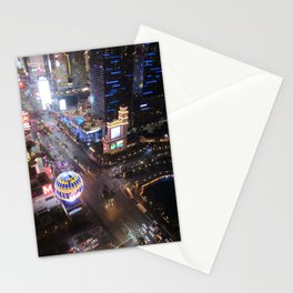Las vegas strip up view Stationery Cards