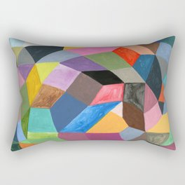 Abstract geometrical shapes pattern painting Rectangular Pillow