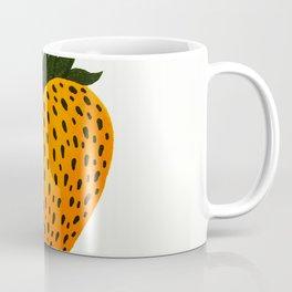 Golden Strawberry Heart Coffee Mug