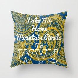 Mountain Roads Throw Pillow