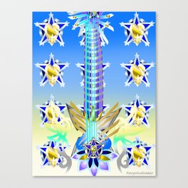 Fusion Keyblade Guitar #53 - Ultima Weapon (BBS) & Ultima Weapon (KH2) Canvas Print