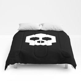 hex geometric halloween skull Comforters