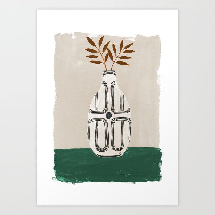 Emile Vase Art Print