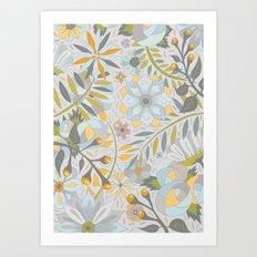 Faded Summer Blossoms Art Print