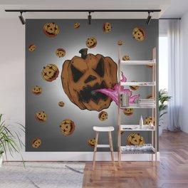 Soul Eater Jack o'lantern . Halloween Pumpkin Wall Mural