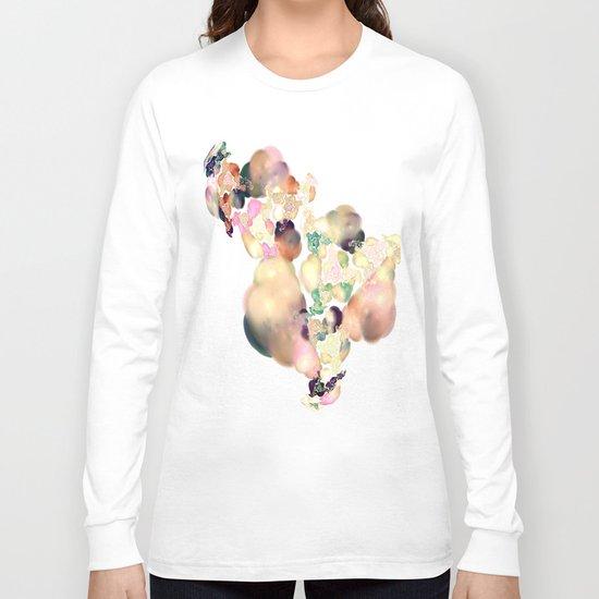 love space flowers Long Sleeve T-shirt