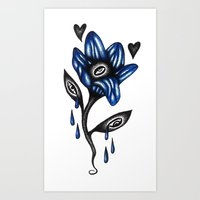 And Even The Flower Weeps Art Print