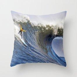 Wave Series Photograph No. 32 - Mavericks Beach, California Throw Pillow