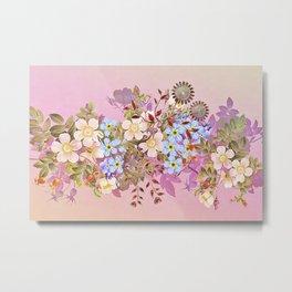 Sweet pastel pink flowers Metal Print
