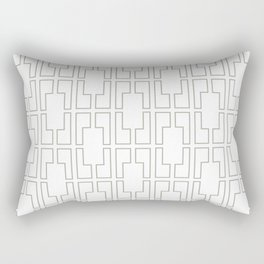 Simply Mid-Century Retro Gray on White Rectangular Pillow