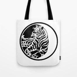 Tiger Tattoo - Black Tote Bag