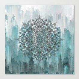 Blue Abstract Mandala Canvas Print