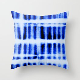 Shibori  Block Pattern Throw Pillow