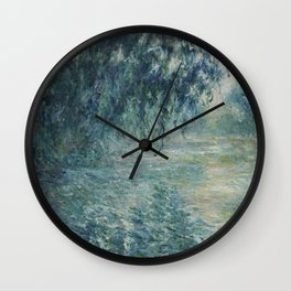 Morning on the Seine, Claude Monet Wall Clock