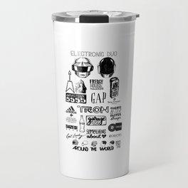 Deconstructing Daft Punk Travel Mug