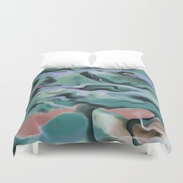 Waves In Harmony Duvet Cover