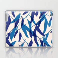 Gum leaves pattern in blue Laptop & iPad Skin