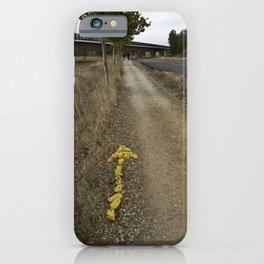 Yellow Arrow Waymarker Camino de Santiago de Compostela  iPhone Case