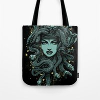 medusa Tote Bags featuring Medusa by miles to go