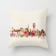 San Francisco city Throw Pillow