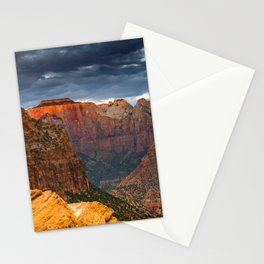 Zion National Park Sunrise Canyon Overlook Vertical Stationery Cards