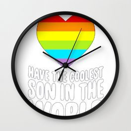MY DADS HAVE THE COOLEST SON IN THE WORLD T-SHIRT Wall Clock
