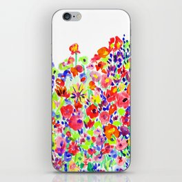 Flower Fields Tangerine iPhone Skin