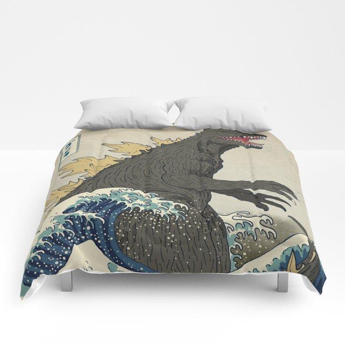 The Great Godzilla off Kanagawa Comforters