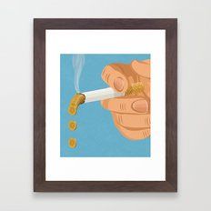 burning money Framed Art Print