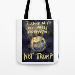 I Stand With The Paris Agreement Tote Bag
