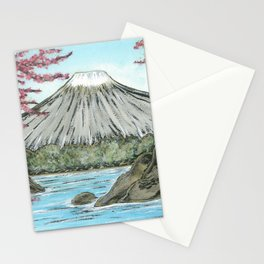 Mt. Fuji in Spring Stationery Cards