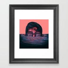 Underwater breath Framed Art Print